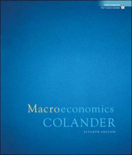 Macroeconomics  7th 2008 edition cover