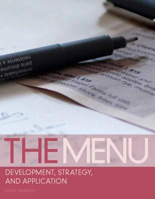 Menu Development, Strategy, and Application  2013 9780135078662 Front Cover