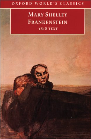 Frankenstein 1818 Text  1993 edition cover