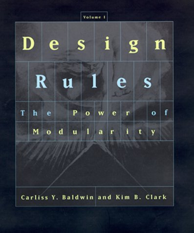 Design Rules The Power of Modularity  2000 edition cover