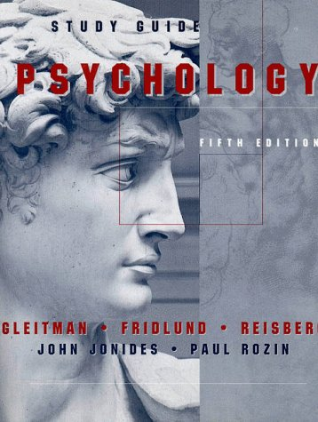 Psychology 5th 1999 (Student Manual, Study Guide, etc.) edition cover