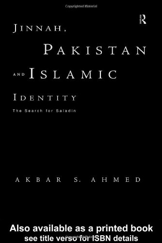 Jinnah, Pakistan and Islamic Identity The Search for Saladin  1997 edition cover