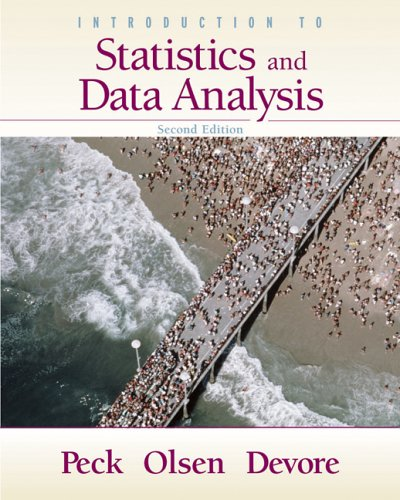 Introduction to Statistics and Data Analysis  2nd 2005 (Revised) 9780495109662 Front Cover