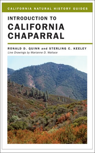 Introduction to California Chaparral   2006 edition cover