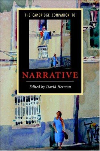 Cambridge Companion to Narrative   2007 edition cover