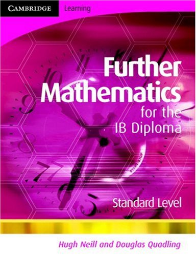 Further Mathematics for the IB Diploma Standard Level   2008 9780521714662 Front Cover