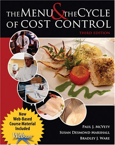 Menu and the Cycle of Cost Control with Webcom 3rd 2005 (Revised) 9780757520662 Front Cover