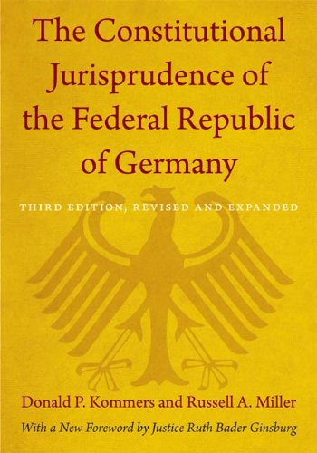Constitutional Jurisprudence of the Federal Republic of Germany  3rd 2012 (Revised) edition cover