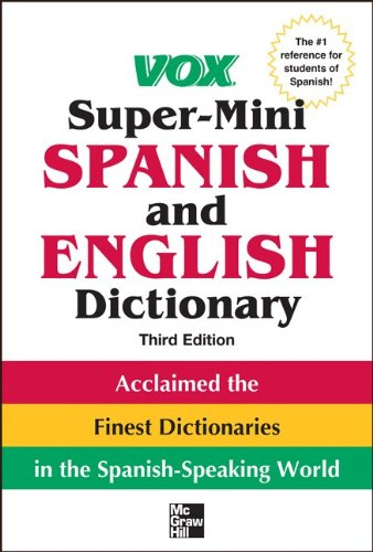 Vox Super-Mini Spanish and English Dictionary  3rd 2012 edition cover