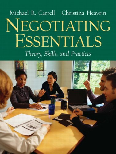 Negotiating Essentials Theory, Skills, and Practices  2007 edition cover