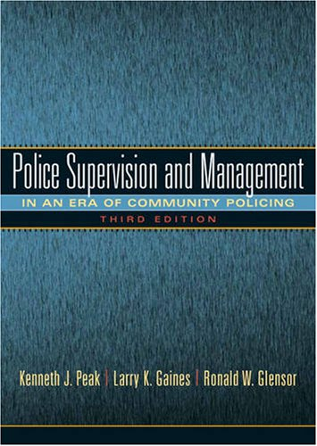 Police Supervision and Management  3rd 2010 edition cover