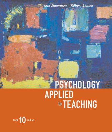 Psychology Applied to Teaching  10th 2003 9780618192663 Front Cover