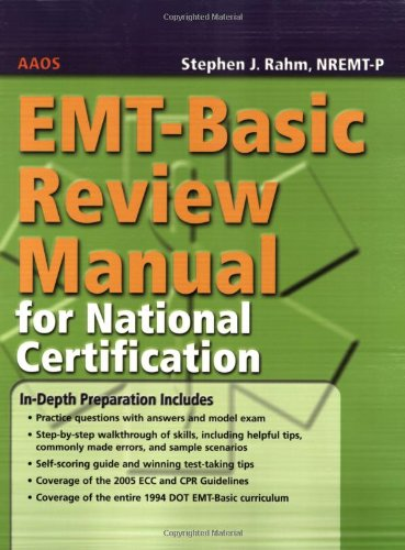 EMT-Basic Review Manual for National Certification   2006 edition cover
