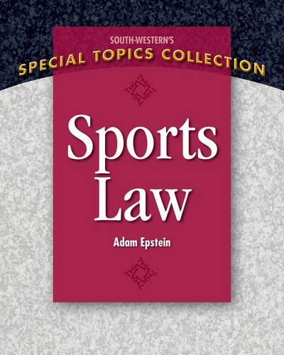 Sports Law   2013 edition cover