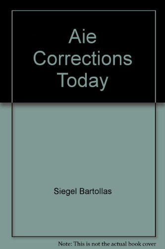 CORRECTIONS TODAY >ANNOT.INSTR N/A edition cover