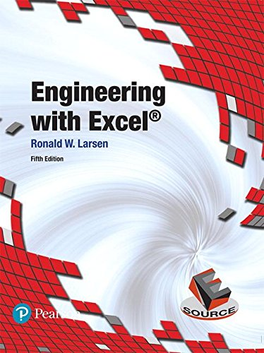 Engineering With Excel:   2017 9780134589664 Front Cover