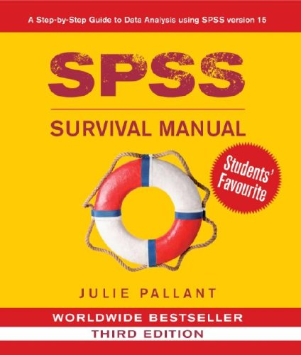 SPSS Survival Manual A Step by Step Guide to Data Analysis Using SPSS for Windows 3rd 2007 (Revised) 9780335223664 Front Cover