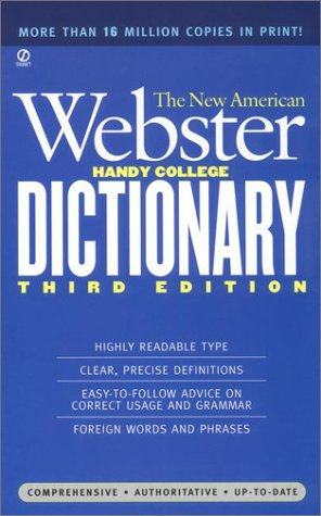 New American Webster Handy College Dictionary  3rd 1998 (Revised) edition cover