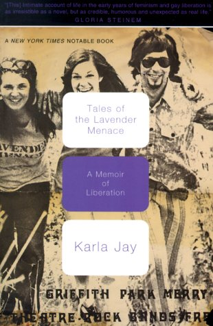 Tales of the Lavender Menace A Memoir of Liberation  2000 edition cover