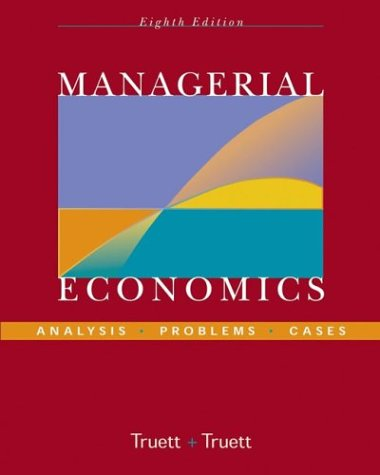Managerial Economics Analysis, Problems, Cases 8th 2004 (Revised) edition cover