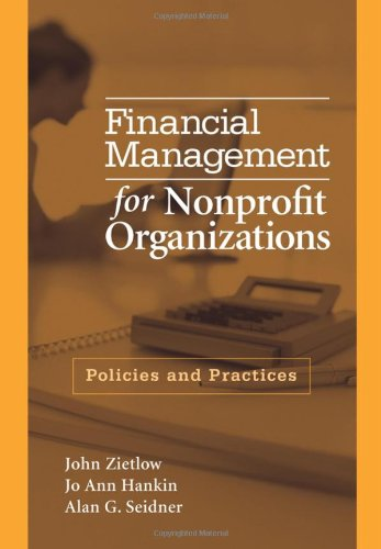 Financial Management for Nonprofit Organizations Policies and Practices  2007 edition cover
