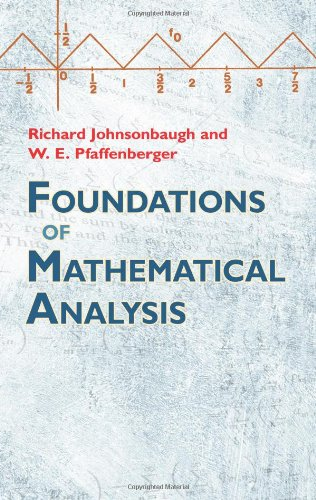 Foundations of Mathematical Analysis   2010 9780486477664 Front Cover