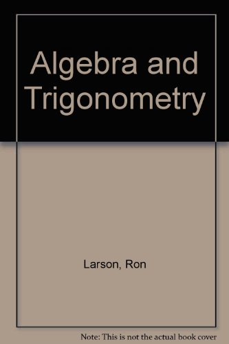 Algebra and Trigonometry,ition and Int 2. 0 CD-ROM 5th 2001 (Student Manual, Study Guide, etc.) 9780618111664 Front Cover