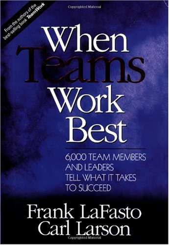 When Teams Work Best 6,000 Team Members and Leaders Tell What It Takes to Succeed  2001 edition cover