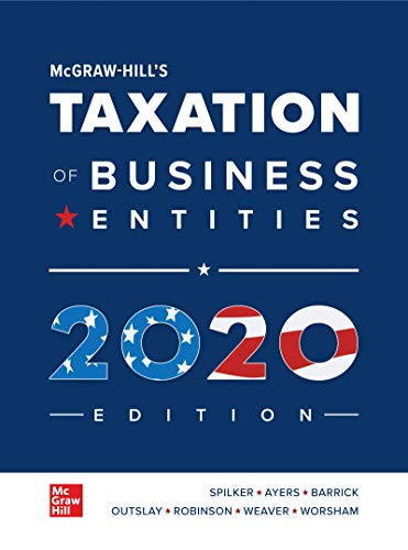 Loose Leaf for Mcgraw-Hill's Taxation of Business Entities 2020 Edition  11th 2020 9781260432664 Front Cover