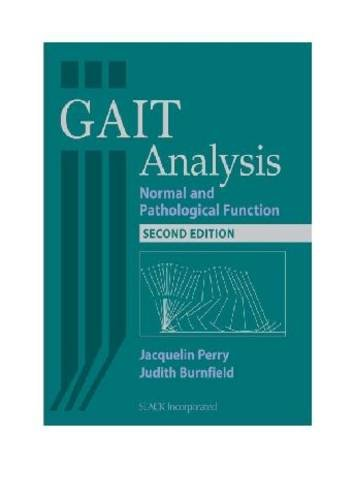Gait Analysis Normal and Pathological Function 2nd 2010 edition cover