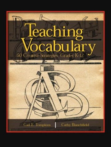 Teaching Vocabulary 50 Creative Strategies, Grades K-12  2004 edition cover
