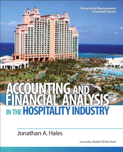 Accounting and Financial Analysis in the Hospitality Industry   2011 edition cover