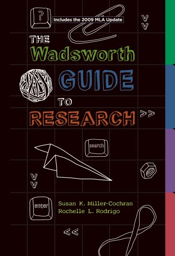 Wadsworth Guide to Research 2009   2009 (Revised) edition cover