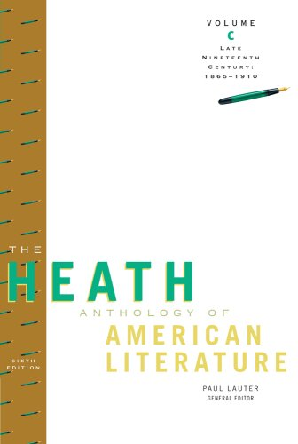 Heath Anthology of American Literature Late Nineteenth Century, 1865-1910 6th 2010 edition cover