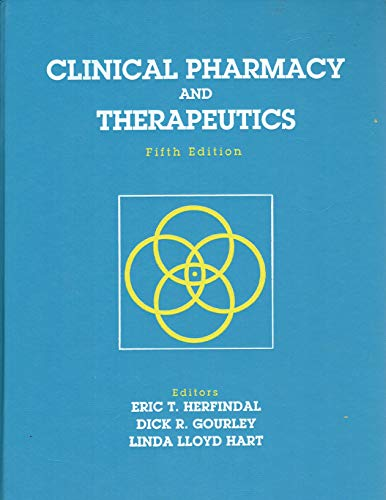 Clinical Pharmacology and Therapeutics 5th (Student Manual, Study Guide, etc.) 9780683039665 Front Cover