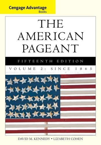The American Pageant: Since 1865 15th 2013 edition cover