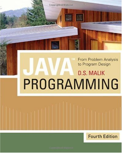 Java Programming From Problem Analysis to Program Design 4th 2010 edition cover