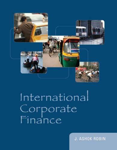 International Corporate Finance   2011 edition cover