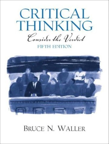 Critical Thinking Consider the Verdict 5th 2005 edition cover
