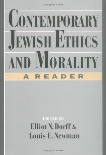 Contemporary Jewish Ethics and Morality A Reader  1995 edition cover