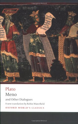 Meno and Other Dialogues Charmides, Laches, Lysis, Meno  2009 edition cover