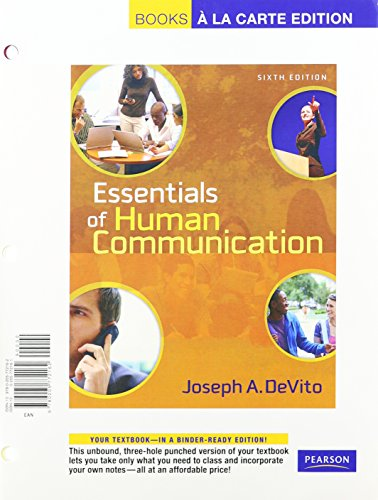Essentials of Human Communication  6th 2008 9780205779666 Front Cover
