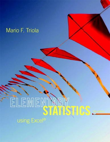 Elementary Statistics Using Excel  5th 2014 edition cover