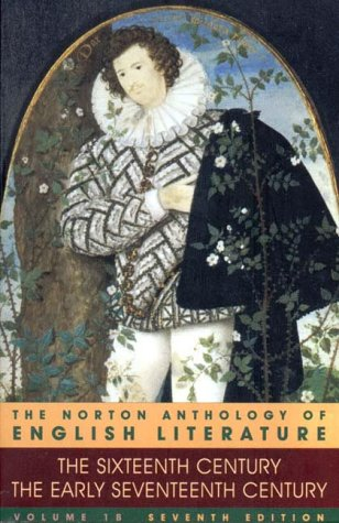 Norton Anthology of English Literature 16th/17th Century 7th 2000 edition cover