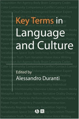 Key Terms in Language and Culture   2001 edition cover