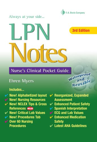 LPN Notes Nurse's Clinical Pocket Guide 3rd 2011 (Revised) edition cover