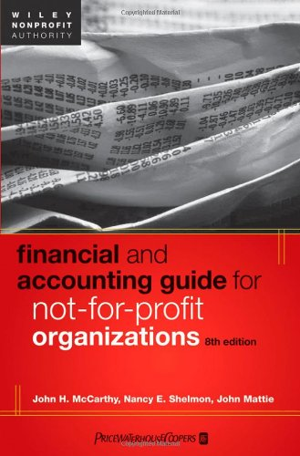 Financial and Accounting Guide for Not-for-Profit Organizations  8th 2012 edition cover