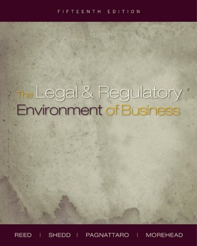 Legal and Regulatory Environment of Business  15th 2010 edition cover