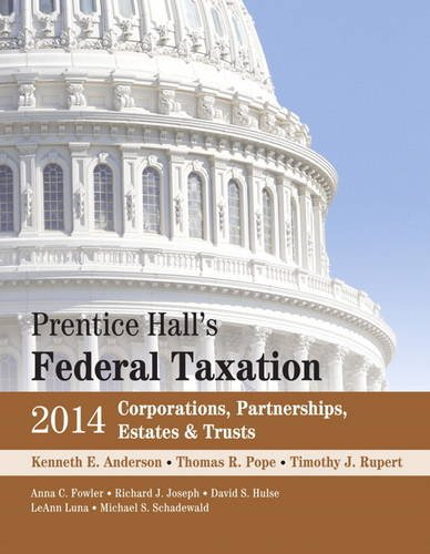 Prentice Hall's Federal Taxation 2014 Corporations, Partnerships, Estates and Trusts  27th 2014 edition cover