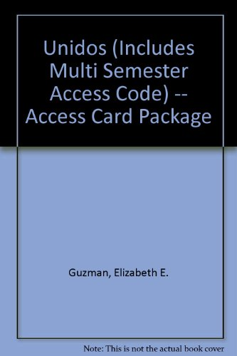 Unidos (includes Multi Semester Access Code) -- Access Card Package   2013 edition cover